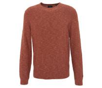 Pullover, meliert, Rippbündchen, Orange