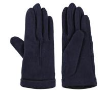 Handschuhe, Feinstrick, Akzente in Leder-Optik