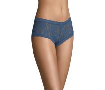 Pants, transparent, Spitzen-Design, Blau