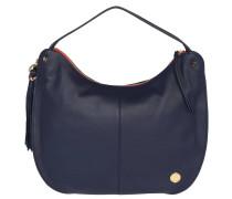 "Handtasche ""Chana"", Hobo-Stil, Leder, Anhänger, Blau"