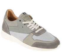 "Sneaker ""Novoli"", Leder, Mesh-Besatz, Klimaporen, Grau"