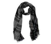 Schal, Karo-Muster, Fransen, leichter Stoff