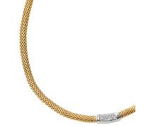 Collier Sterling Silber vergoldet mit Zirkonia