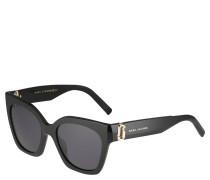 Sonnenbrille, Katzenaugen, breite Bügel