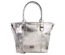 "Shopper ""Carrara"", Metallic-Optik, Crinkle-Effekt, Silber"