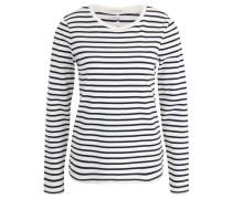 Langarmshirt, Ringel-Design, weiche Baumwolle, Blau