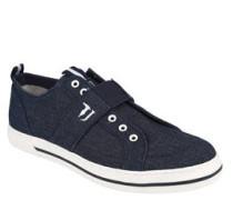 Sneaker, Denim-Look, Lasche, Gummisohle, Schnürösen