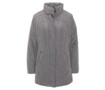 Steppjacke, Taschen mit Fleece-Innenfutter, längerer Schnitt, Grau