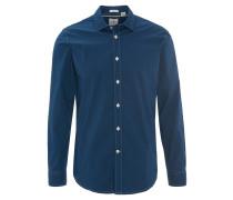 Hemd, Punkte-Muster, Baumwolle, Blau