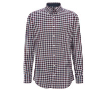 Freizeithemd, Modern Fit, Button-Down, Rot