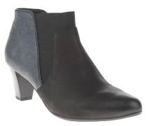 "Ankle Boot ""Lena 02"", Trichterabsatz, Leder, Schwarz"