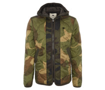 Jacke, Kapuze, Camouflage, Eingrifftaschen