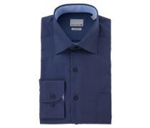 Businesshemd, Comfort Fit, uni, Brusttasche, Blau