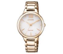 Elegance EM055385A Damenuhr Gold plattiert