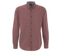 Freizeithemd, Button-Down-Kragen, reine Baumwolle, Rot