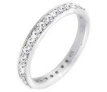 Ring Glamourös Swarovski® Kristalle 925 Sterling Silber