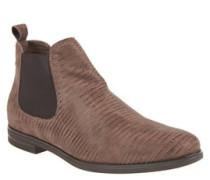 Chelsea-Boots, Veloursleder, schimmernde Streifen