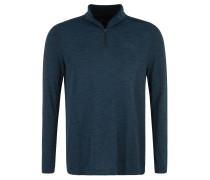 Langarmshirt, atmungsaktiv, Melange, für Herren, Blau