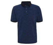Poloshirt, gemustert, Baumwolle, Blau