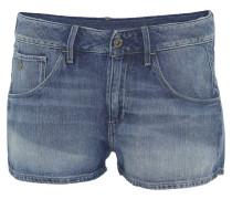 Jeans-Shorts, Waschung, Baumwolle, Blau