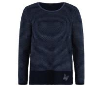 Pullover, Strick, zweifarbig, Stickerei