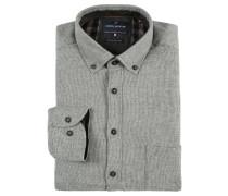 Freizeithemd, Straight Fit, Baumwolle, Grau