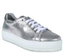 "Sneakers ""S-Andyes"", Plateausohle, Metallic-Optik, Silber"