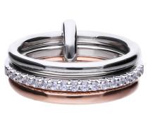 Ring, Sterling Silber 925, -Zirkonia, zus. 0,40 ct