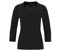 Shirt, 3/4-Arm, Bio-Baumwolle, V-Ausschnitt