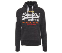 Sweatshirt, Kapuze, Logo-Print, breiter Bund