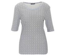 T-Shirt, Halbarm, geometrisches Muster, Baumwolle