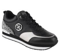 Sneaker, Leder, Glitzer-Pailletten, Emblem