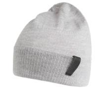 Mütze, Feinstrick, reine Wolle, Umschlag