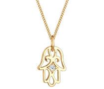 Halskette Hamsa Hand Diamant (0.03 Ct.) 585 Gelbgold Senta