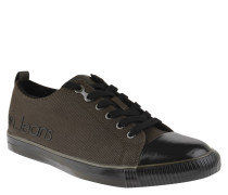 "Sneaker ""Arturo"", Fell-gefüttert, klassisches Design, glänzende Kappe, Oliv"