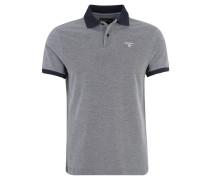 Poloshirt, Piqué-Muster, Logo-Stickerei, für Herren, Blau
