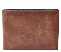Geldbörse für Herren DERRICK FRONT POCKET BIFOLD BROWN, RFID, Braun