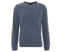 Pullover, meliert, Logo-Aufnäher, Blau