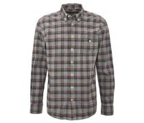 Freizeithemd, Button-Down-Kragen, Used Look, Grau
