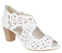 """Sandaletten """"Lotta"""", offen, Lochung, Reißverschluss, Weiß"""