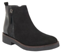 Chelsea Boots, Veloursleder, Lack, Glitzer