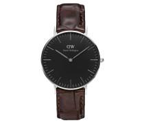 Classic Black Armbanduhr York, Silber 36 mm DW00100146