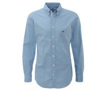 Businesshemd, Casual Fit, Button-Down-Kragen, Brusttasche, Blau