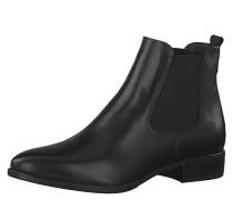 Chelsea Boot, Leder, Blockabsatz, Schwarz