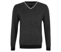 Pullover, V-Kragen, quergestreift