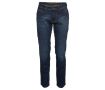 "Jeans ""Houston"", straight fit, mittlere Leibhöhe, Blau"