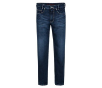 "Jeans ""Clark"", Straight Fit, Waschung, Blau"