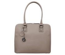 """Handtasche """"Antonia"""", Leder, Reißverschluss, Taupe"""