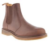 Chelsea Boots, Leder, Used-Look, Braun