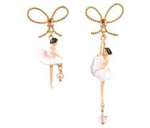 Ohrringe, WDD108T/2, asymmetrisch, Ballerina, Schleife